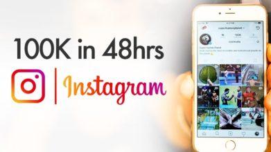 100k followers pe Instagram in 48 ore
